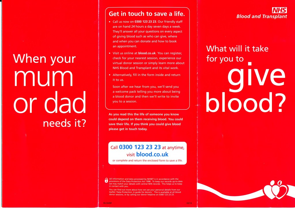 Blood & Transplant Leaflet 2015