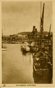 Whitstable Post Card - The harbour - Version 2